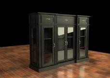 3D实木柜子建模