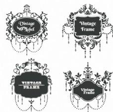 时尚欧式古典花纹矢量图