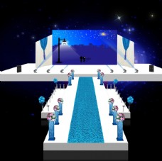 蓝色舞台效果图