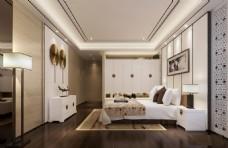 新中式卧室设计图