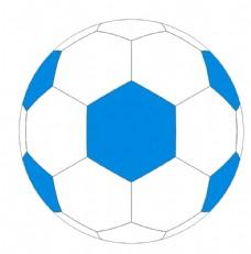 蓝色矢量足球