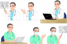 卡通醫務人員矢量素材