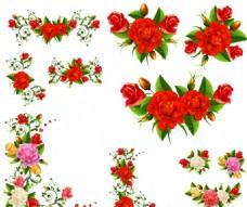 精美玫瑰邊框花紋矢量素材