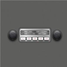 简洁收音机界面矢量素材