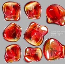 華麗紅色琥珀