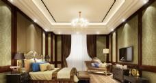 星级酒店总统套房效果图设计