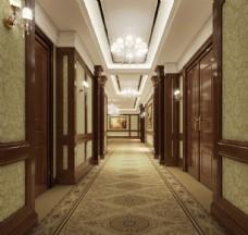 星级酒店过道设计
