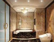 酒店总统套房卫生间