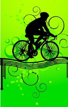 自行车运动剪影
