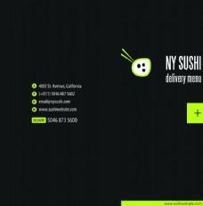 寿司店菜单封面设计