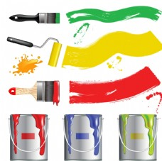卡通油漆工具矢量素材
