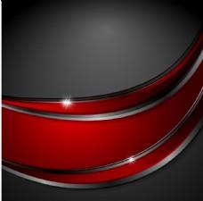 红色金属线条