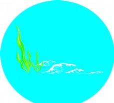 海草海浪图