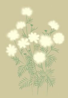 韩国高清花纹 水墨花纹