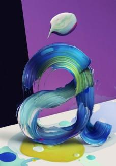3D字母数字