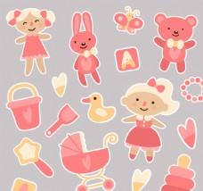 粉色婴儿玩具