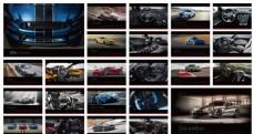 2016跑车主题台历模板