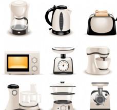 时尚厨房电器设计矢量素材