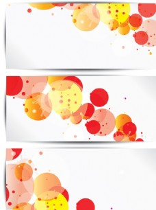橙色气泡横幅矢量素材