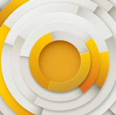 橙色同心圆背景矢量素材