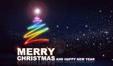 炫彩星空圣诞背景