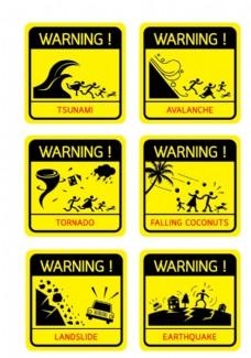 自然灾害标识