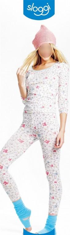 Sloggi白睡衣裤广告