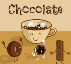 巧克力插画