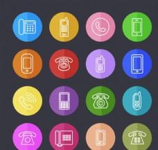 圆形电话图标