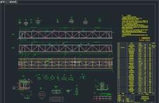 圆管带式输送机桁架梁机械图纸
