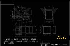 往复式给煤机外形图机械图纸