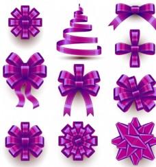 款精美紫色丝带蝴蝶结