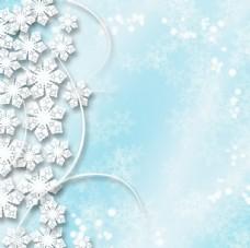 圣诞节雪花背景