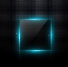 立体方形光效背景