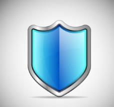精美蓝色盾牌