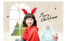 圣诞节儿童海报模板 圣诞节海报