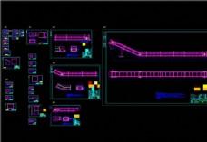 刮板出渣机全套图CAD机械图纸