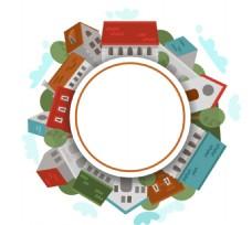 环形建筑标签