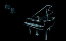 唯美光线钢琴