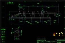振动出灰机总装图机械图纸