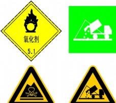 氧化剂标志有毒标志垃圾车标志
