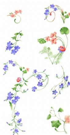 清新手绘小花