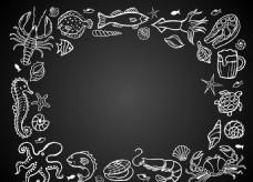 海洋生物边框