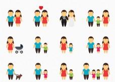 卡通幸福家庭