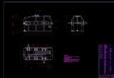减速箱装配图CAD机械图纸