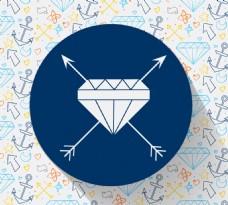 钻石标签背景