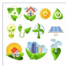 生物绿色自然的图标