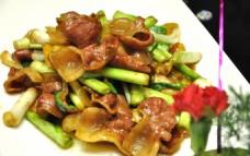 青蒜茨菰炒肉