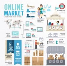 创意网络营销商务信息图矢量素材