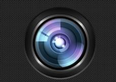 精致鏡頭藍紫光暈素材